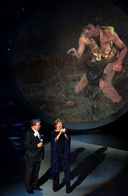 "William Shatner and Frederica Von Stade perform ""Star Trek"" (pictured: DeForest Kelley) Emmy Awards - 9/18/2005"