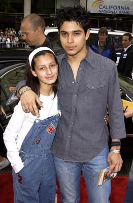 Premiere: Wilmer Valderrama and sister Stephanie at the Hollywood premiere of Scooby Doo - 6/8/2002