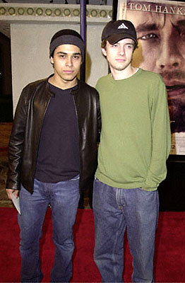 Premiere: Wilmer Valderrama and Topher Grace at the Westwood premiere of 20th Century Fox's Cast Away - 12/7/2000