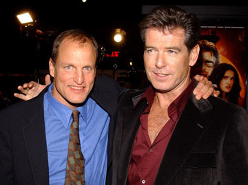 Premiere: Woody Harrelson and Pierce Brosnan at the Hollywood premiere of New Line Cinema's After the Sunset - 11/4/2004