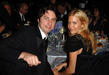 Zach Braff and Mandy Moore Governor's Ball Emmy Awards - 9/18/2005