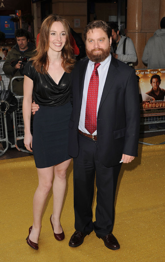 Zach Galifianakis and guest attend the UK premiere of 'The Hangover' at Vue West End on June 10, 2009 in London, England.
