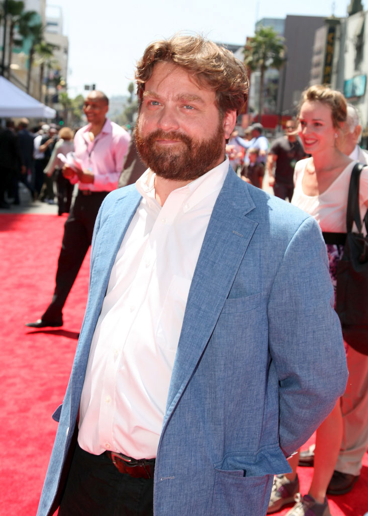 "Zach Galifianakis at The World Premiere of Walt Disney Pictures' ""G-Force"" on July 19, 2009 at the El Capitan Theatre in Hollywood, California."
