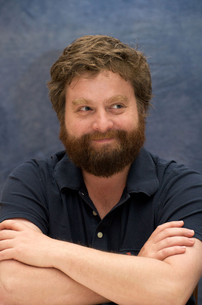 "Zach Galifianakis at ""The Hangover"" press conference at Caesar's Palace on May 17, 2009 in Las Vegas, Nevada."