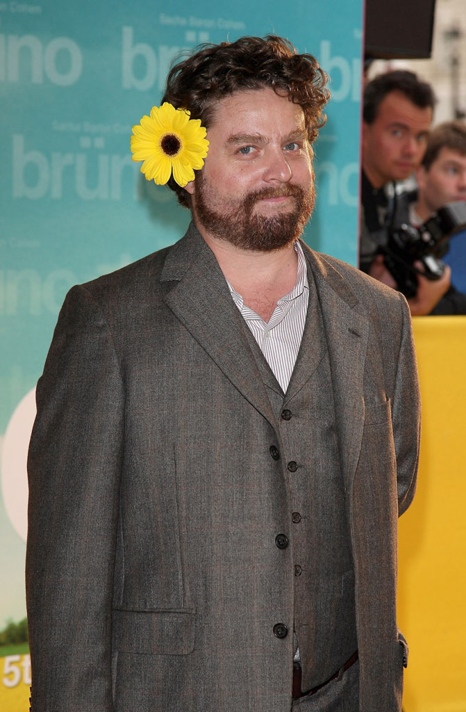 Zach Galifianakis attends the premiere of the Larry Charles's film 'Bruno' at Publicis Champs Elysees on June 15, 2009 in Paris, France