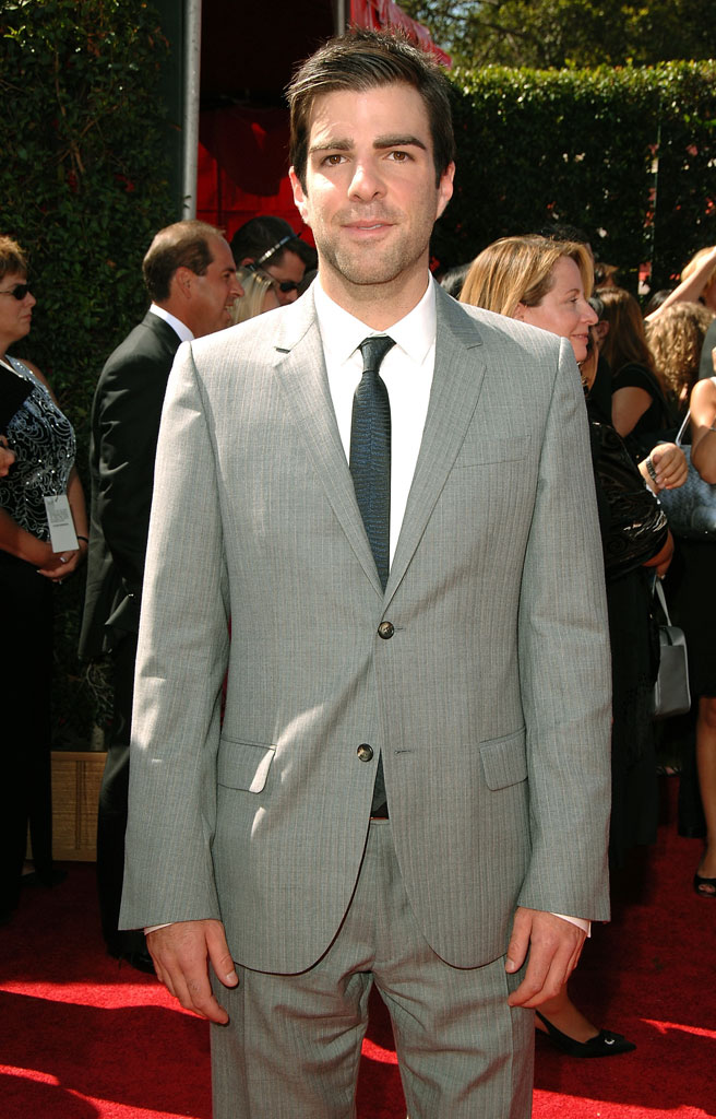 Zachary Quinto arrives at the 59th Annual Primetime Emmy Awards at the Shrine Auditorium on September 16, 2007 in Los Angeles, California.