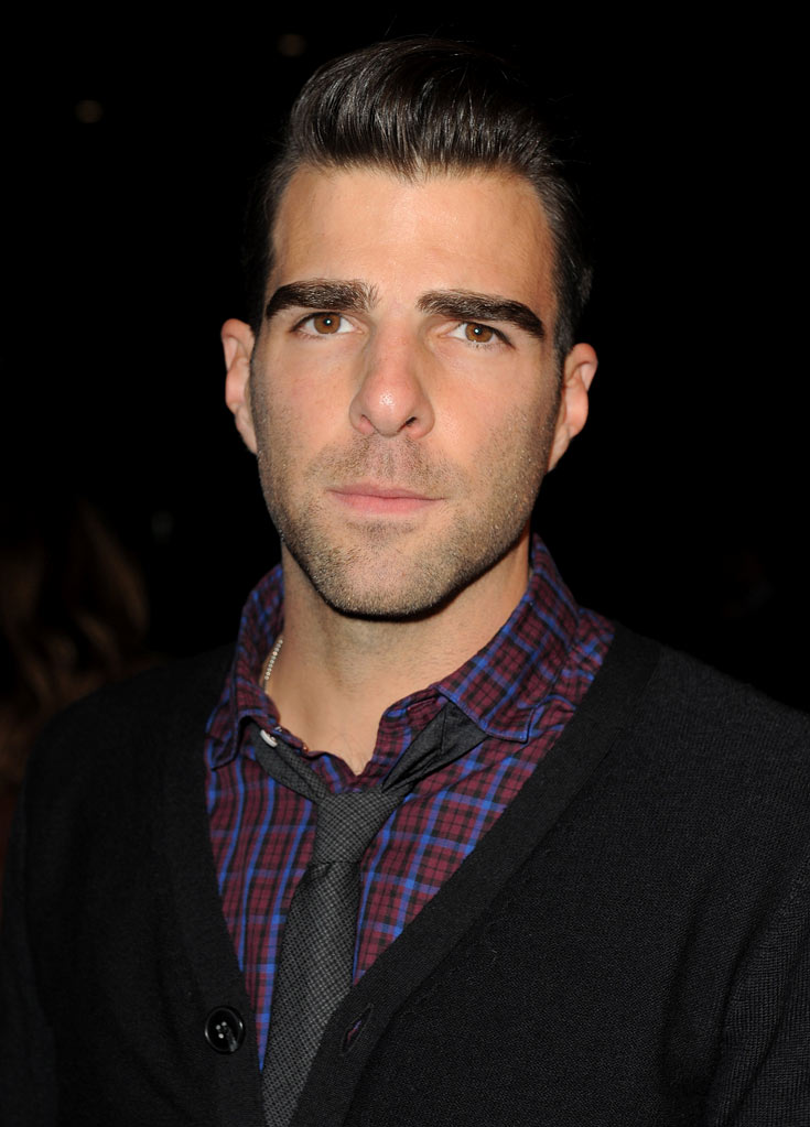 "Zachary Quinto arrives at the premiere of FX's ""American Horror Story"" at the ArcLight Cinemas Cinerama Dome on October 3, 2011 in Hollywood, California."