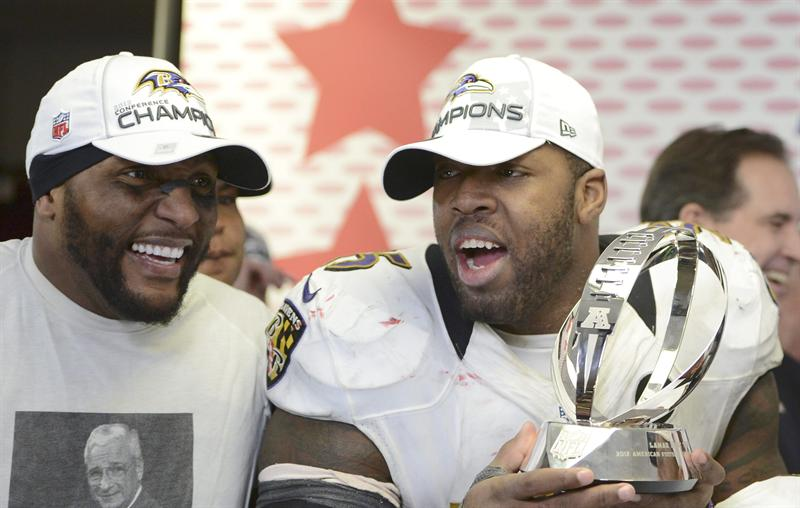 Third time was the charm for Ray Lewis and Terrell Suggs who lost in two previous AFC title games. (EFE)