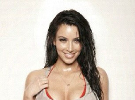 PIC: Soaking Wet Kim Kardashian Flaunts Major Cleavage