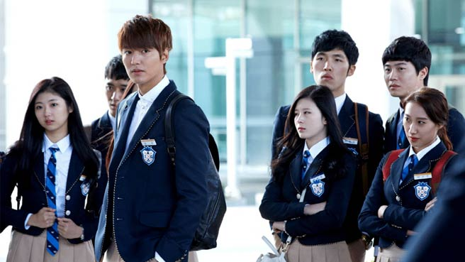 ... debut at school on SBS' The Heirs , and boy, does he look good