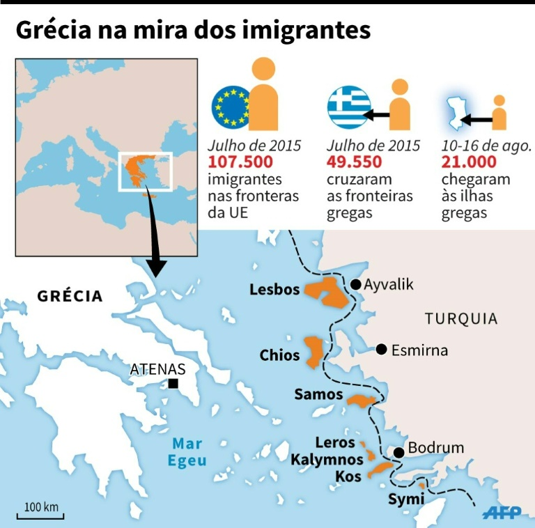 Super Mais de 2 mil refugiados sírios partem de ilhas gregas rumo a  VK83