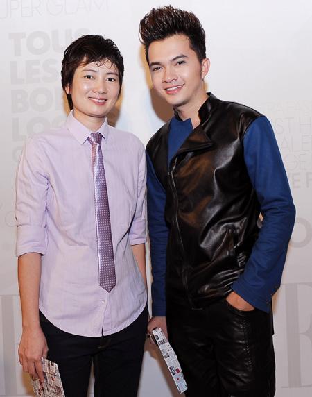Thúy Vinh cùng Nam Cường (phải) cũng đam mê thời trang.