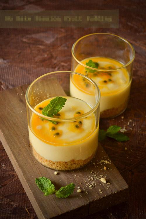 Pudding chanh leo tráng miệng tuyệt hảo