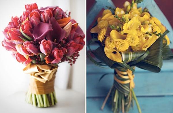 Khi kết hợp hoa, các cô dâu nên chú ý chọn những loại hoa có màu tương đồng.