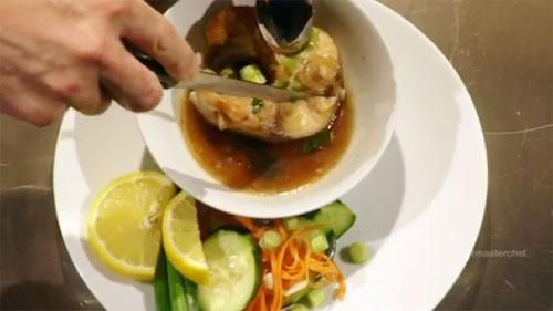 Món cá kho tộ của Christine Hà ở cuộc thi.
