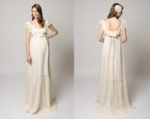 Dây buộc phía sau lưng giúp dễ dàng điều chỉnh váy theo vòng hai của cô dâu. Ảnh: WOW.