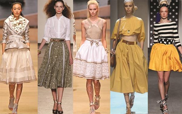 Rất nhiều nhà thiết kế và thương hiệu thời trang nổi tiếng đưa váy xòe vào bộ sưu tập của mình với đủ kiểu dáng, màu sắc khác nhau.