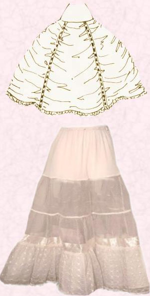 Váy lót mặc bên trong được làm bằng chất liệu nylon hoặc vải tuyn.