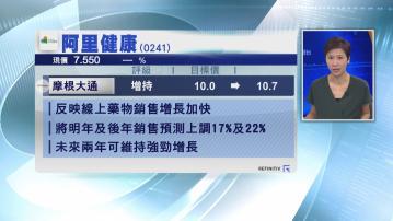 【大行報告】摩通:阿里健康睇$10.7