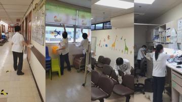 伊院安排員工清潔醫院內部及更換過濾網
