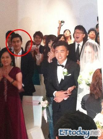 始源特地飛到台灣參加紀文蕙、吳建新婚禮。(圖/記者張瀞勻攝)
