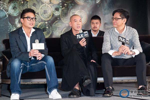 殭屍(左)錢小豪、導演麥浚龍、 陳友 (圖/記者徐文彬攝)