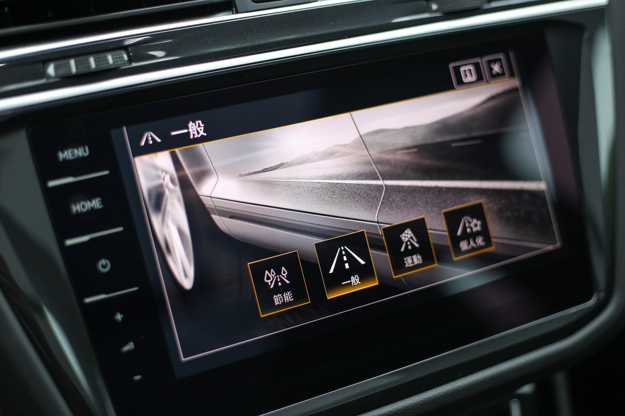 若按下MODE按鍵,還可以提供節能、一般、運動、個人化的駕駛模式供選擇。