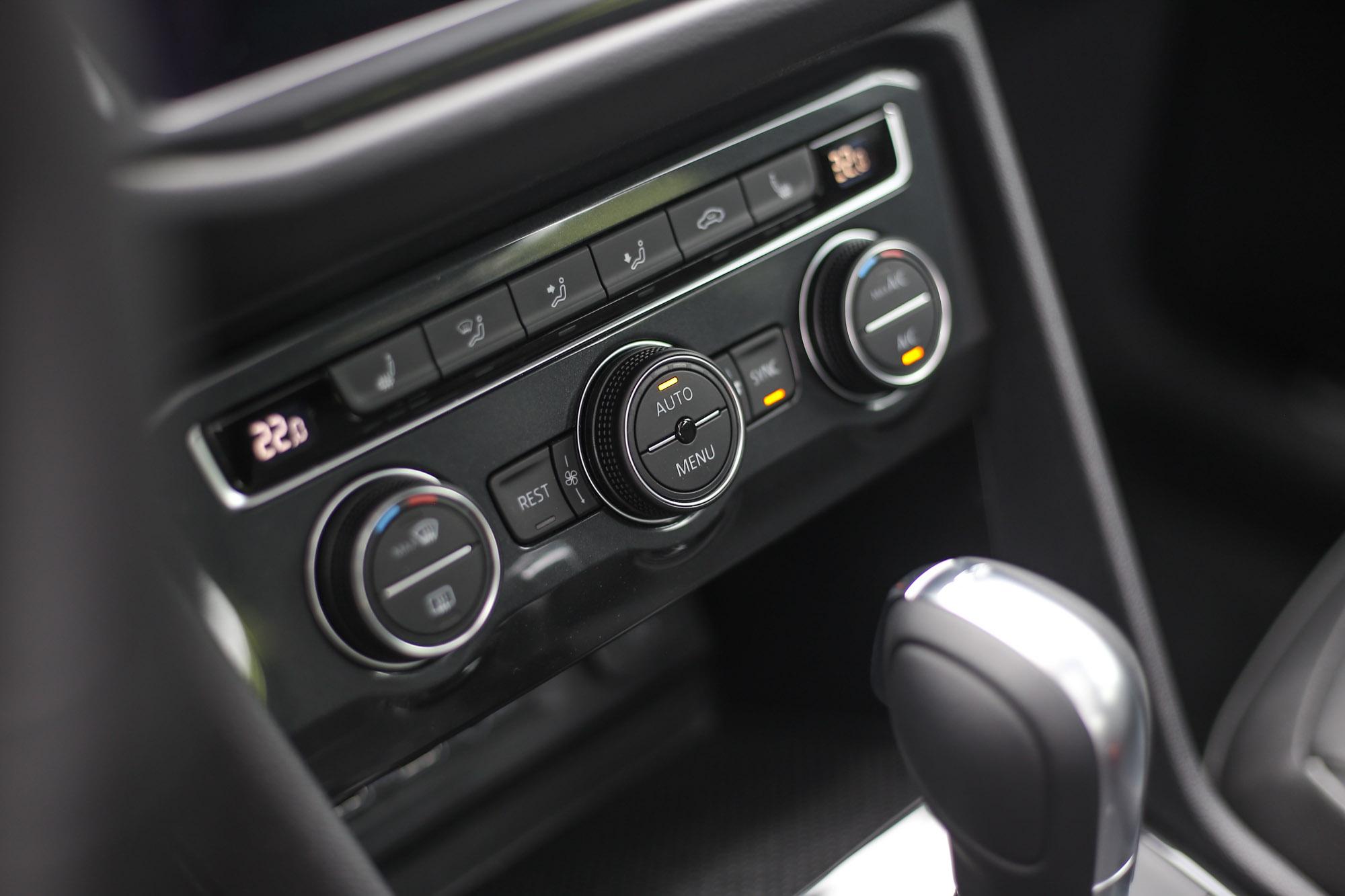 三區電子恆溫空調為Tiguan全車系標配。