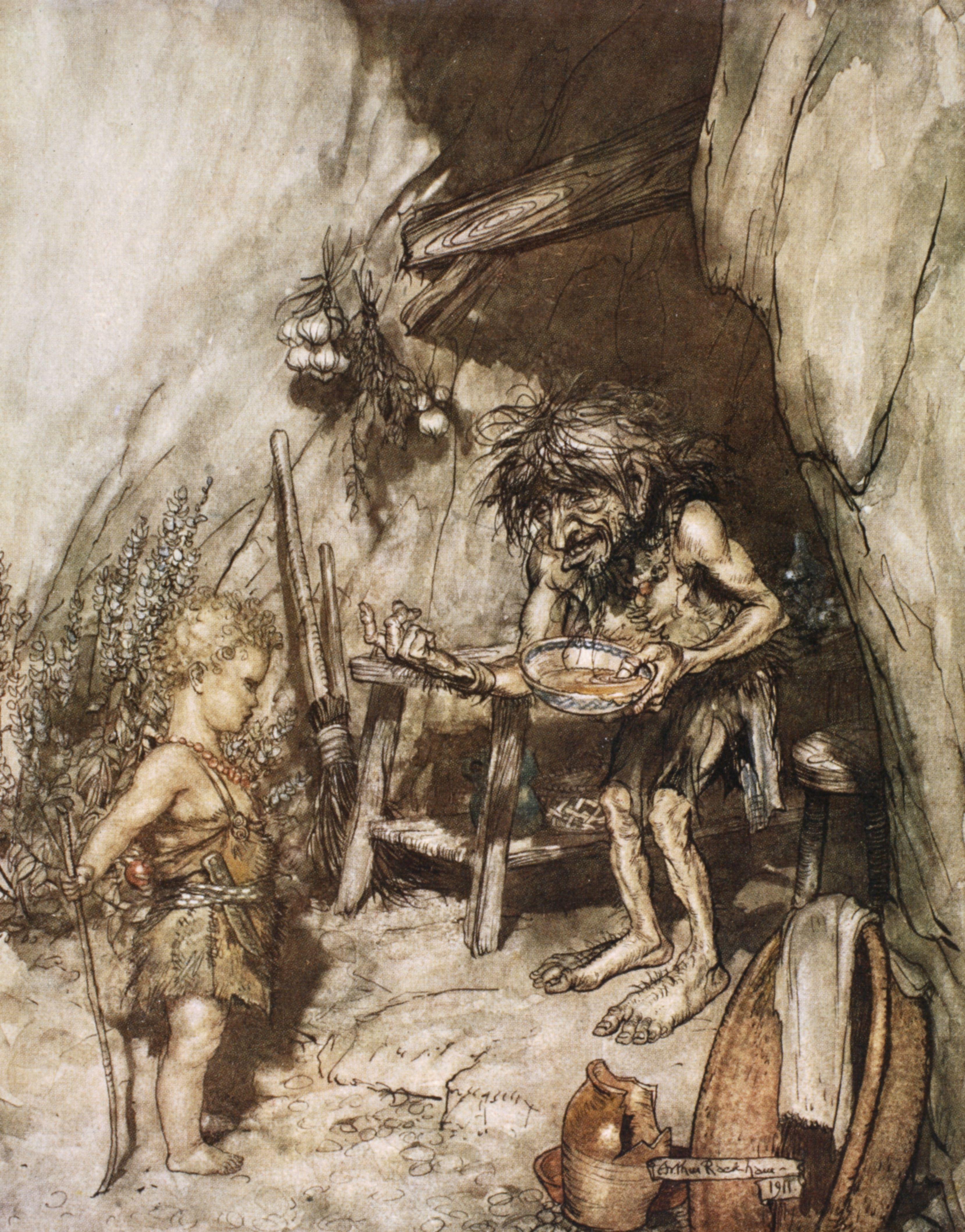 齊格菲由於母喪而被侏儒撫養長大。