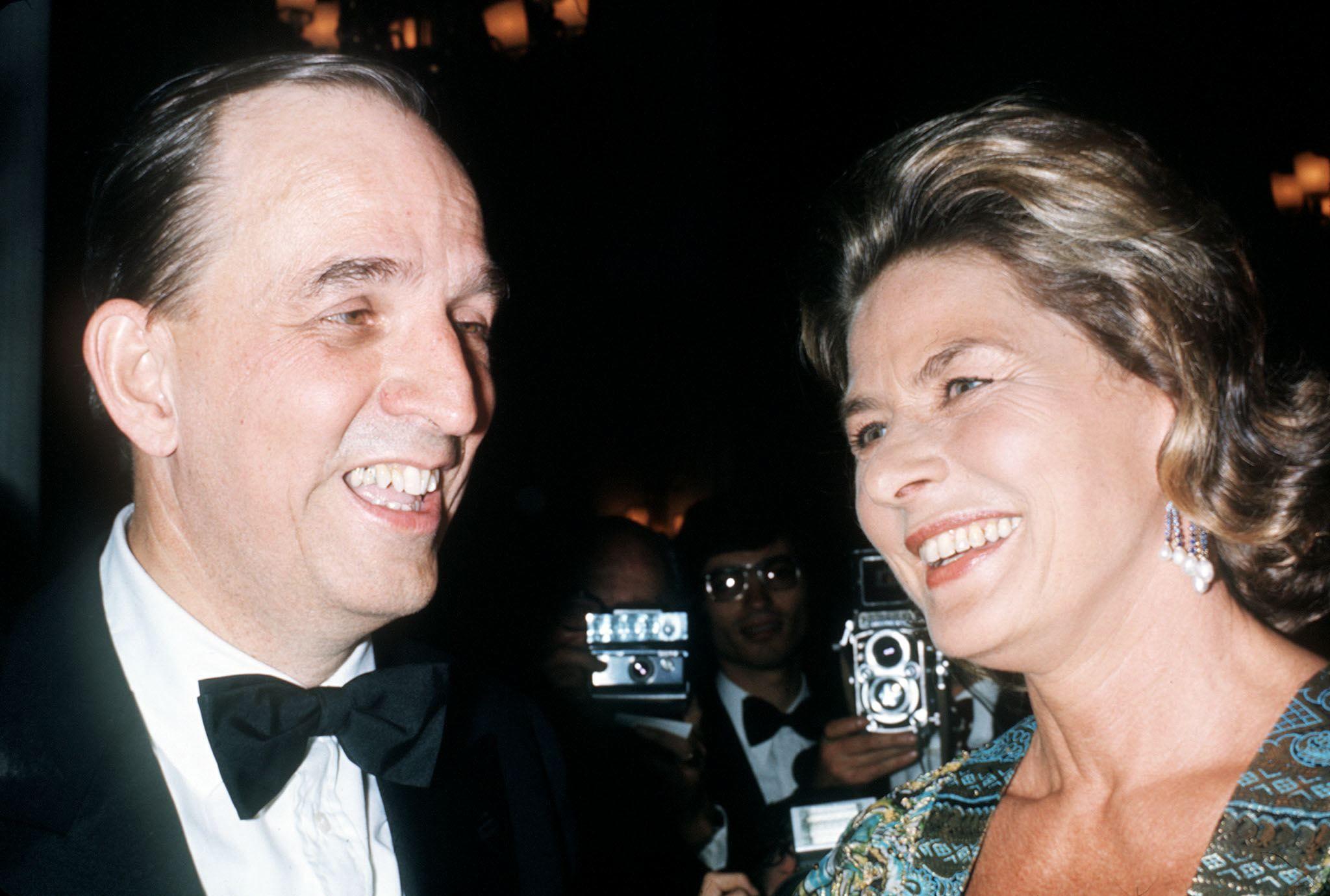 導演Ingmar Bergman與同樣來自瑞典的國寶級女星Ingrid Bergman,在1973年的坎城影展同框留影。
