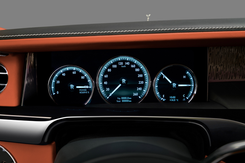 三環設計內背後為12.3吋的TFT彩色液晶螢幕。