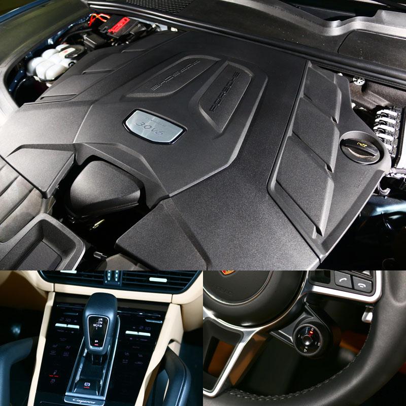 基本款Cayenne搭載3.0升渦輪增壓V6引擎,搭配Tiptronic S 8速手自排變速系統,選配之跑車計時套件便附有動態切換旋鈕。