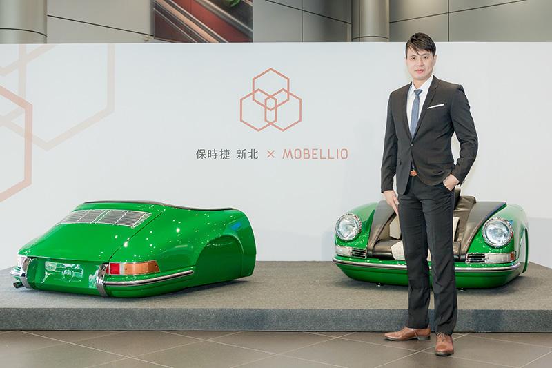 MOBELLIO創辦人劉鴻輝先生,因為找不到喜歡與滿意的汽車家具,因此決定自己開發,自發想至手工製出第一組沙發花了約兩年的時間,同時又花了約兩年的時間自創品牌,曾為了開發產品,真的買了輛Porsche來研究,爾後才與零件供應商合作取得各款經典車零件,得以逐漸實現夢想。