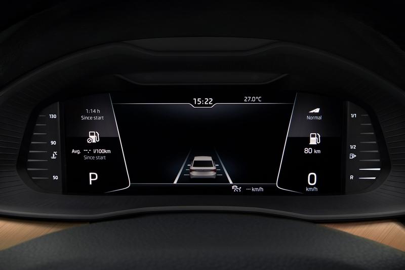 10.25吋數位儀表共具有五種顯示介面。