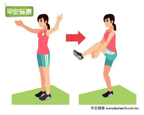 抬腳拍手的有氧運動有助燃脂