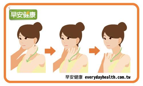 摩擦脖子改善暈眩耳鳴