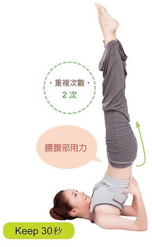 改善失眠瑜珈:肩倒立式