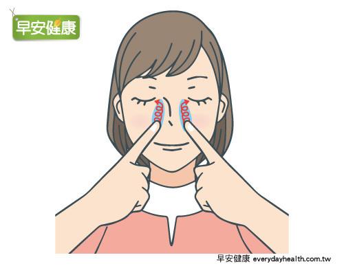 鼻水,鼻塞,按摩