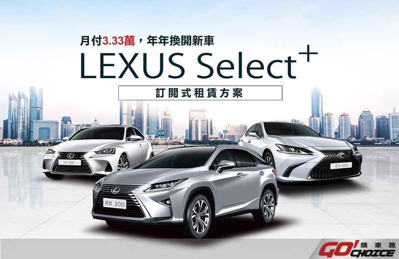 Lexus訂閱式租賃服務
