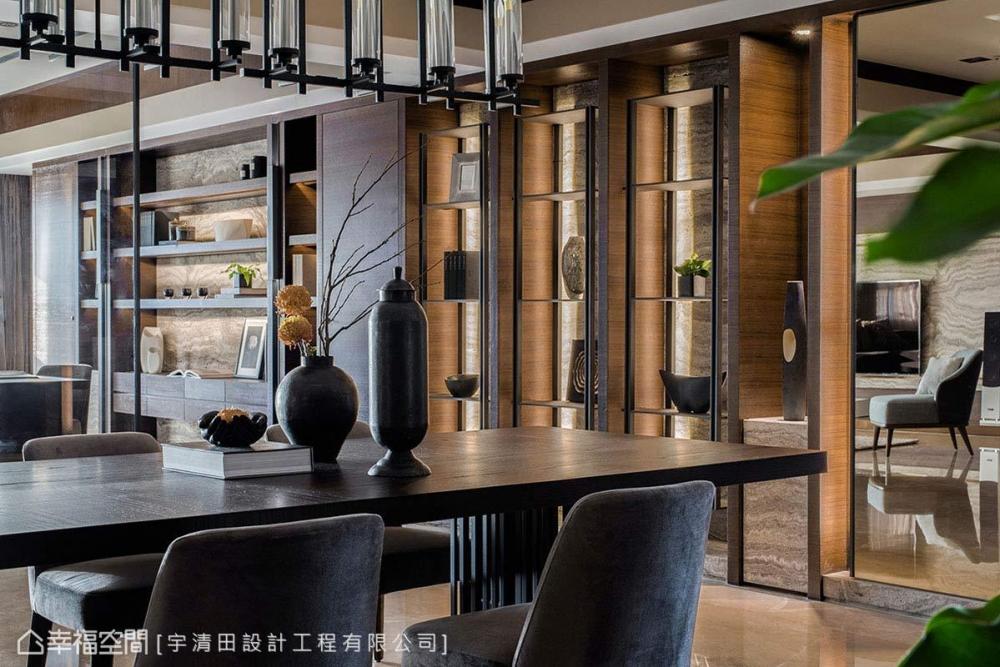 玫瑰金×石紋 讓空間增溫 東方紳士的時尚優雅居~