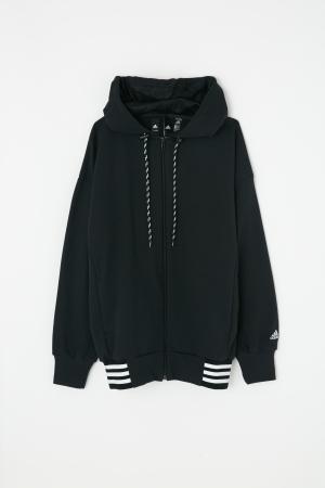 adidas&moussy共同開發聯名商品第四彈連帽外套黑 hoody sweat black