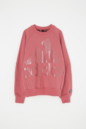 adidas&moussy共同開發聯名商品第四彈長袖外衣粉紅色 sweat pink