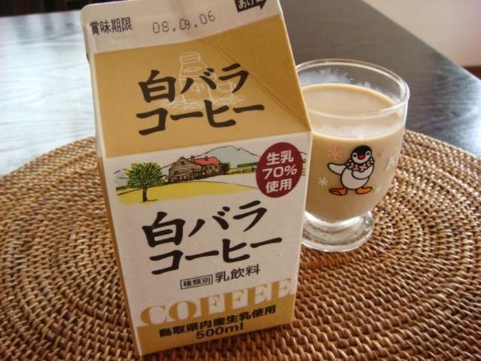 鳥取 咖啡牛奶 白バラコーヒー