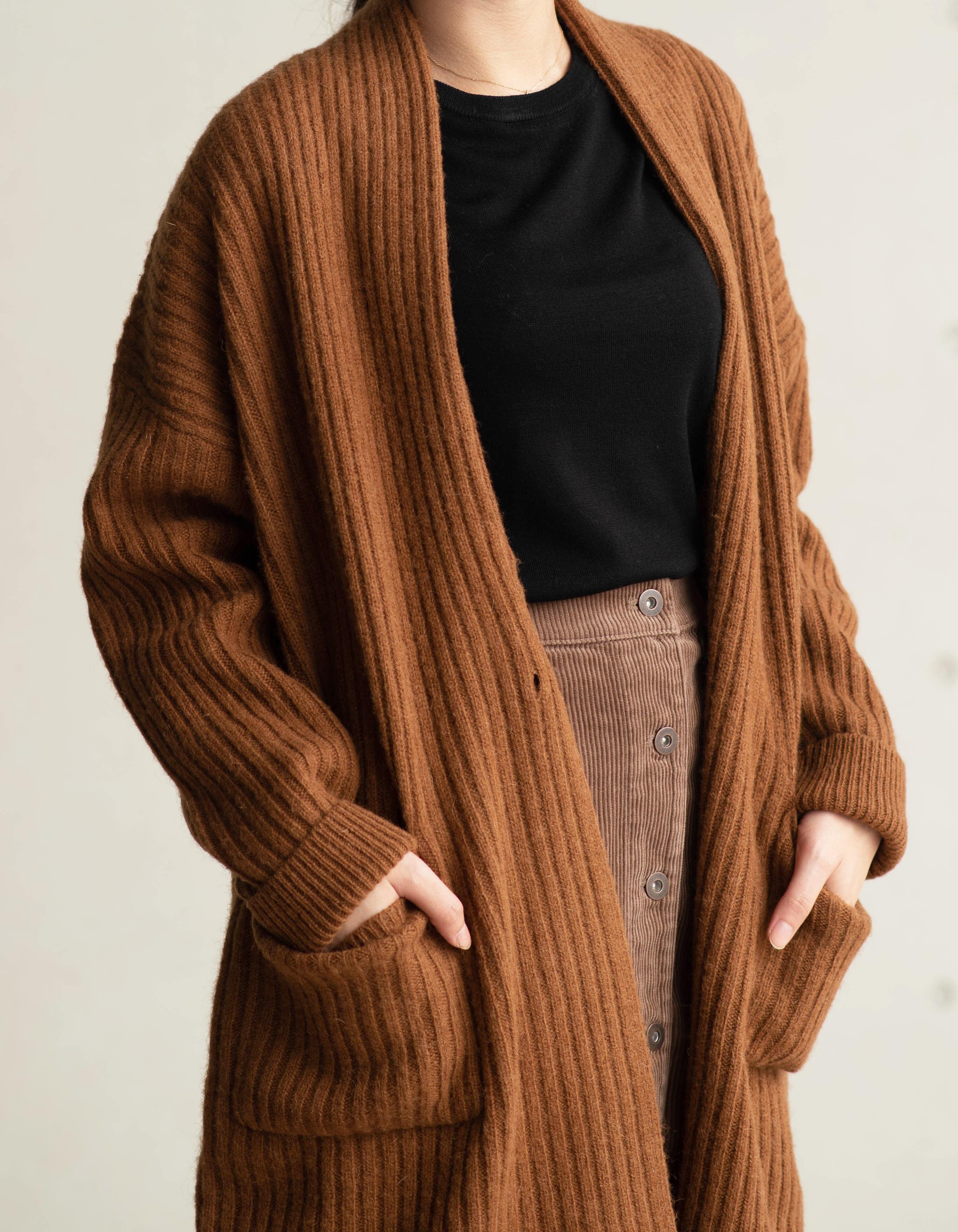 羊毛羅紋針織大衣3