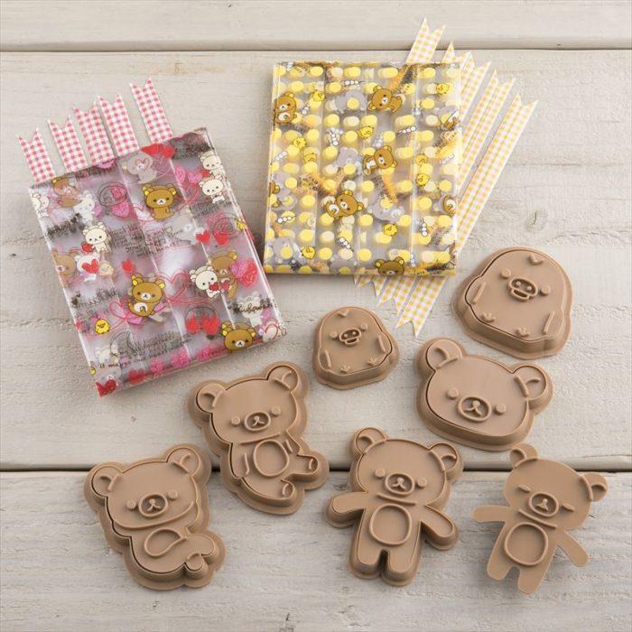 拉拉熊餅乾模與包裝袋組合