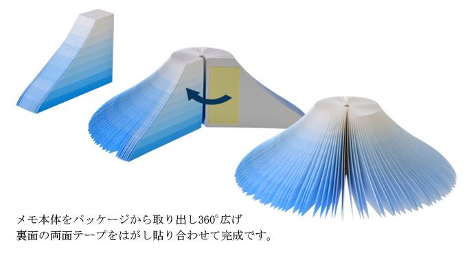 富士山3D便條紙