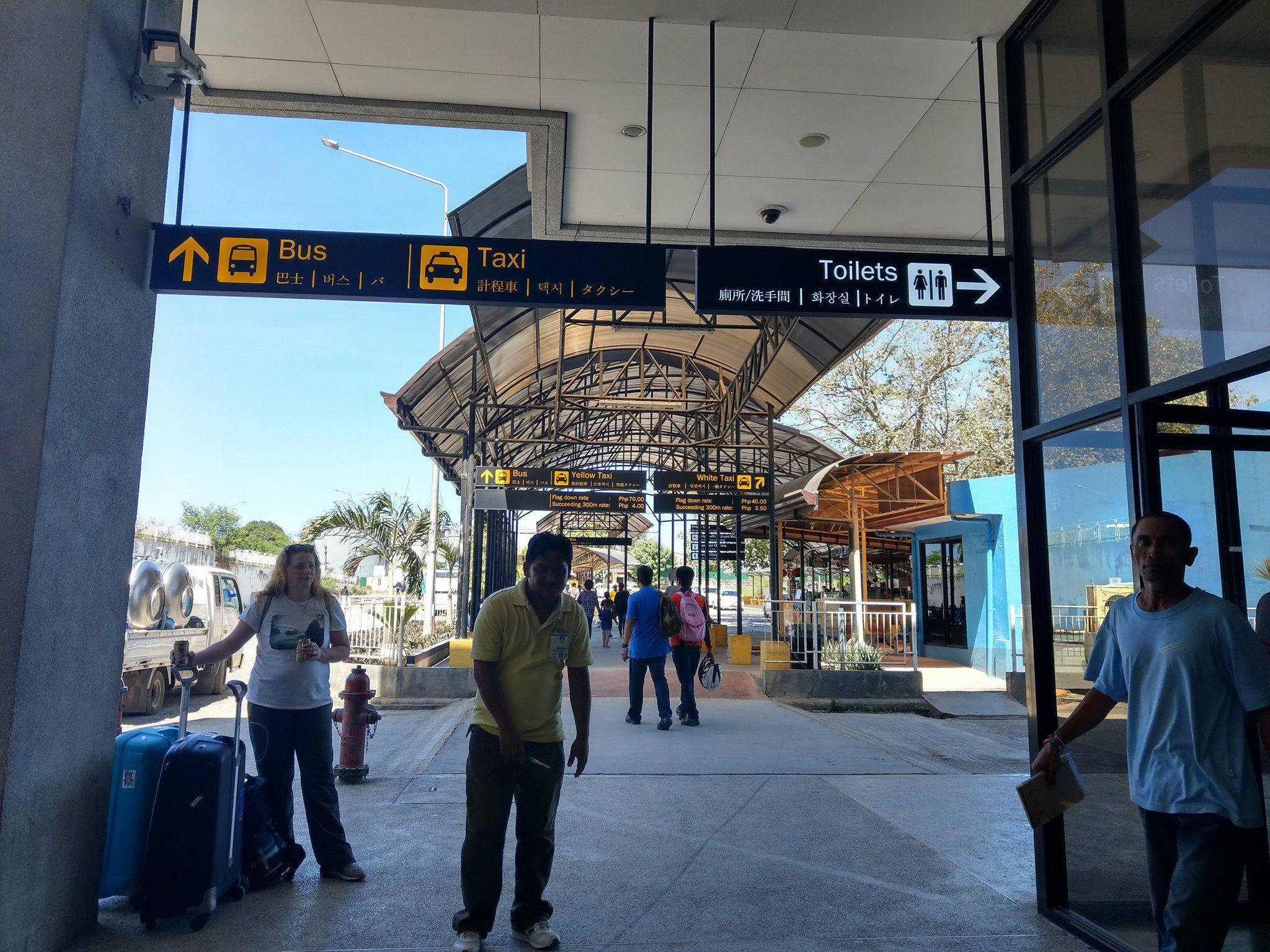 出境後會看到的巴士指示 圖片來源:Vanessa