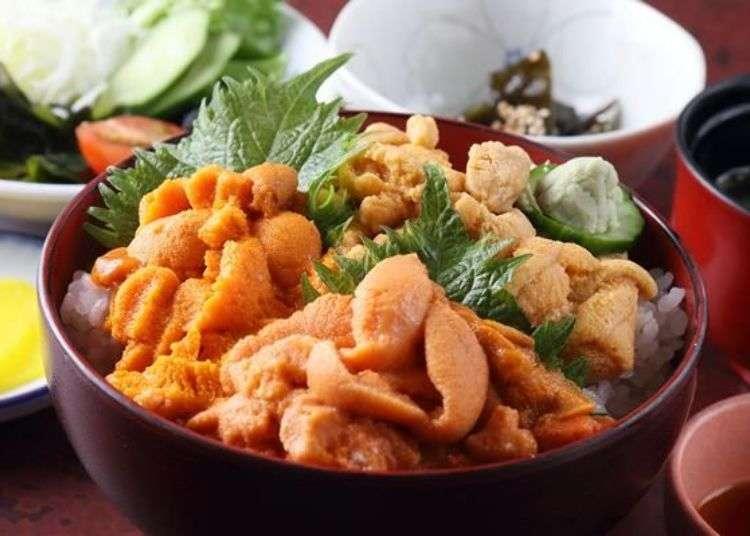 極品美食!在利尻嚐盡馬糞海膽與紫海膽的生魚片和義式蛋麵!