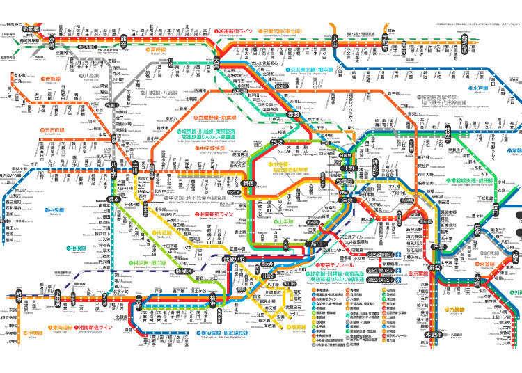 東京電車交通不再卡卡!一次搞懂東京各家鐵路公司所有路線!
