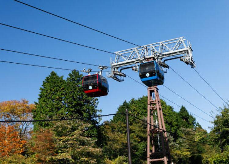 ▲桃源台站往大涌谷!箱根空中纜車平日載客量也都超過3,000人以上,超有人氣